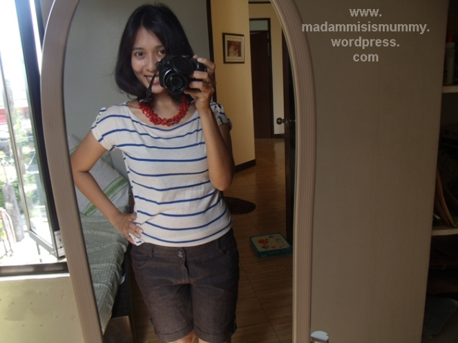 Top from St Francis (PhP100), Shorts from St Francis (PhP150), Necklace from a friend