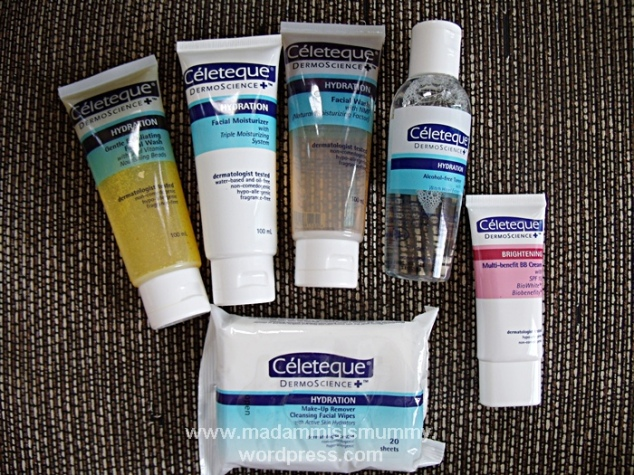 I am now a Celeteque convert! I love how the moisturizer does not feel sticky and cake-y.