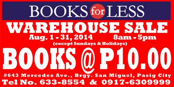 Books-For-Less-Warehouse-Sale-August-2014